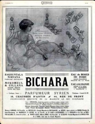 Imagen 2. Publicidad de los perfumes de Nirvana. Fuente: https:// www.parfumo.net/Perfumes/Bichara/Nirvana (revisada 1 de octubre de 2019).