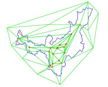 Triangulación entre coordenadas de referencia