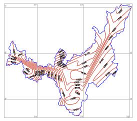 Isolíneas de regionalización constante K