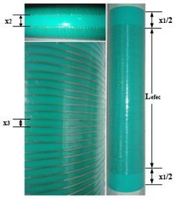 Disposición del alambre a lo largo del tubo de PVC