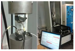Configuración experimental y equipo de medición de EA