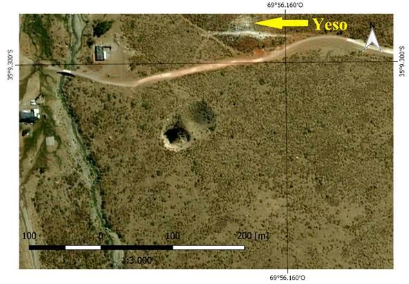 Dolinas del pozo de Las Animitas, en margen izquierdo Hostel Los Molles. Geositio 3