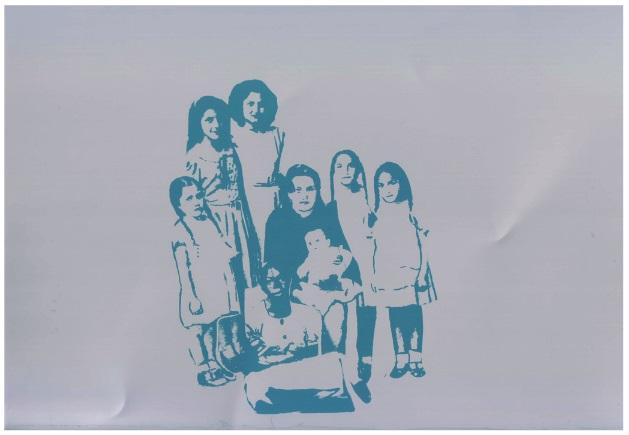 Imagen  9: Fractal II: madre, 5 hijas, un bebé y  una joven afro