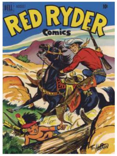 Imagen  4.  Portada  de  Red  Ryder  Comics,  uno  de  los populares de la época