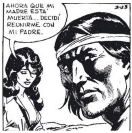 Imagen  13.  Panel  de  comic  strip  publicado  por  el  diario El Universo en junio 8 de 1983.