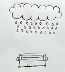 "Imagen 4. Prueba proyectiva ""Niño bajo la lluvia"", febrero 2017."
