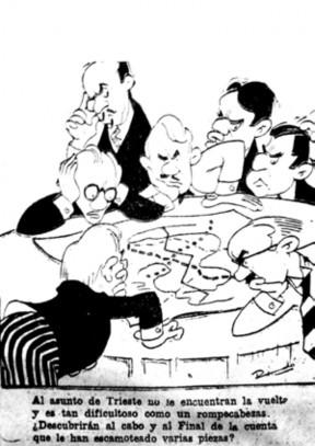 Figura 7. Ricardo Warecki, viñeta para el diario Crónica, Rosario, 1 de octubre de 1946.