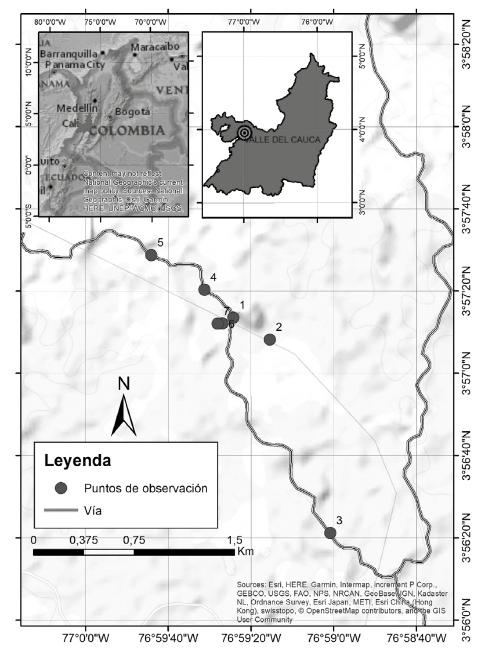 Localización del CFT Pedro Antonio Pineda, Bajo Calima, Buenaventura.