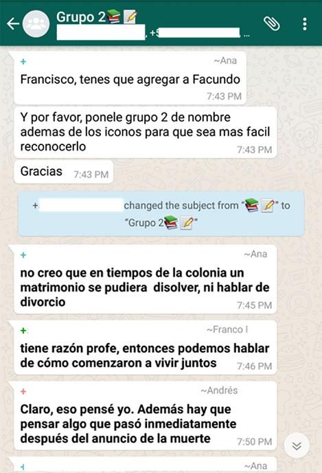 """""""Grupo 2"""", creado por docente"""