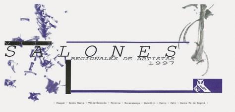 Convocatoria VIII Salón Regionales de Artistas 1997 (sobre el tema de la memoria).
