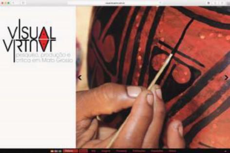 Página de entrada do site (as imagens são trocadas randomicamente). Duyaraki Juruna. Pintura sobre cerâmica. Urucum com carvão. Etnia Yudjá Juruna. Aldeia Pakaya. MT.Brasil. Foto Charadu Juruna. 2014.