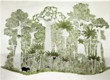 Abel Rodríguez, Colombia, 1941. Ciclo anual del bosque de la Vega, 2005. Serie de 12 dibujos. Tinta sobre papel. Cortesía Tropenbos International, Colombia