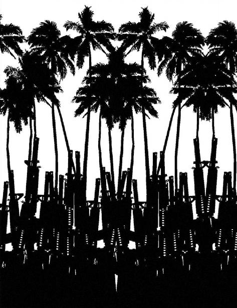 Juan Obando (1980), Tropicore, 2010. Impresión(es) de gran formato de acuerdo con el espacio expositivo. Cortesía Juan Obando.