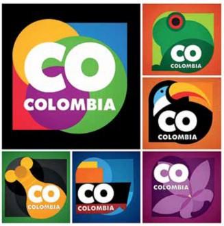 """Logo """"Marca país Colombia"""". Disponible bajo la licencia Dominio público vía Wikimedia Commons."""