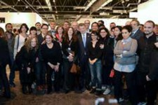 ¡El Presidente Juan Manuel Santos departió con artis-tas nacionales y gestores culturales que participaron en la Feria Internacional de Arte Contemporáneo 'Arco Madrid'. Foto: César Carrión, Primicia Diario, 2014.