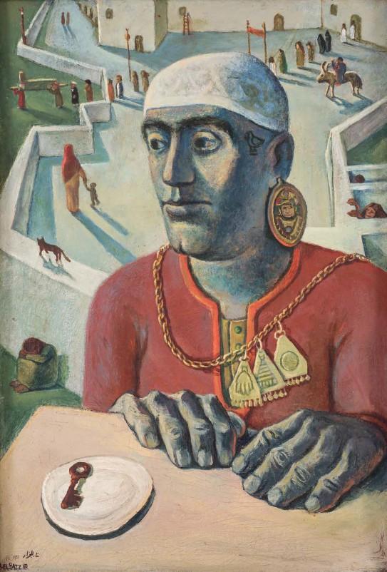 Abdel Hadi El-Gazzar, Key of Time, 1951, Oil on canvas, 89 x 60 cm. Courtesy of Museum of Modern Arts Alexandria