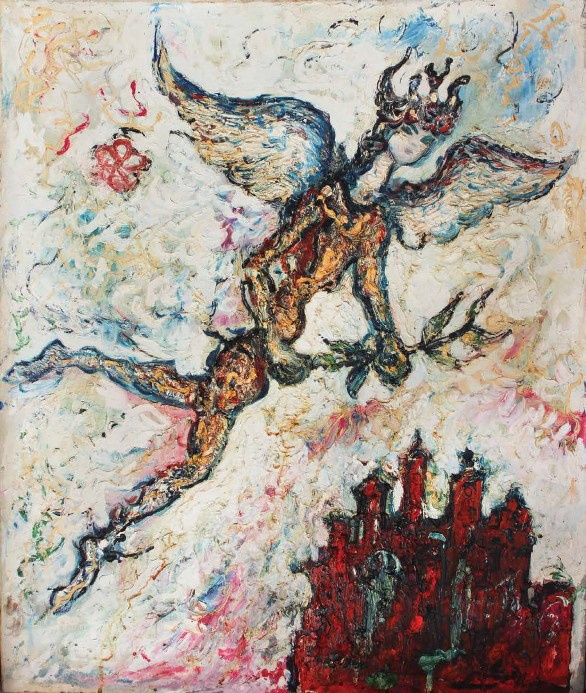 Ibrahim Massouda, Untitled, early 1950s, Oil on canvas, 82.5 x 72 cm, Sharjah Art Foundation Collection.
