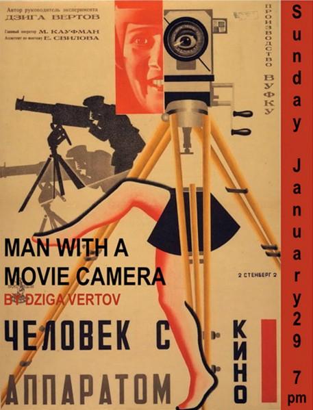 Hermanos Stenberg, afiche de la película El Hombre de la cámara de Dziga Vertov. (1929).