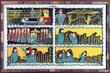 Imagen 2. Ciclos económicos. (Alcides Pereira dos Santos, 1978). Óleo sobre tela, 80 x136 cm. Coleção Humberto Espíndola, Campo Grande-MS.