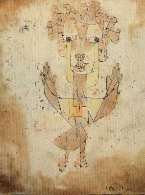 Imagen 1. Angelus Novus, (Paul Klee, 1920). Dibujo a tinta china, tiza y acuarela sobre papel. Museo de Israel. httpsupload.wikimedia.orgwikipediacommonsddbKlee-angelus-novus.jpg