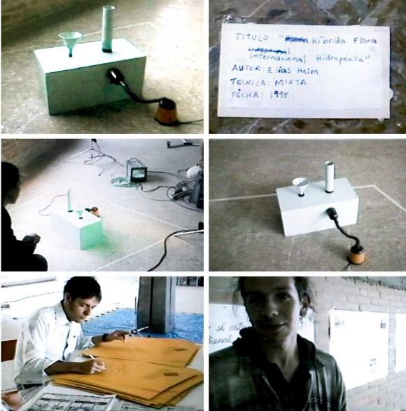 Imagen 12. Selección de cuadros del registro en video de la Primera Bienal del Barrio Venecia. (Wilson Díaz y Juan Mejía, 1995). Archivo Wilson Díaz.