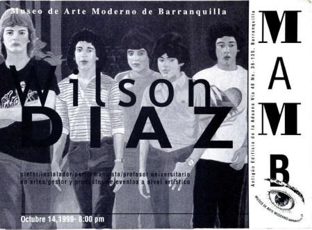 Imagen 2. Programa del Festival de Cultura Popular Bogotá 450 años. Impresión sobre papel, 21x28cm. Fuente: Archivo Wilson Díaz.