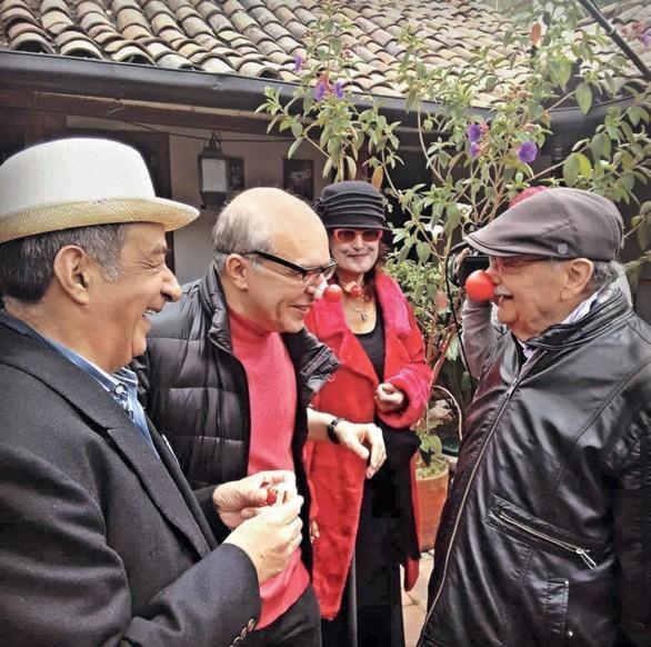 Imagen 3. De izquierda a derecha: Alfonso Ortiz, Sandro Romero Rey, Patricia Ariza y Santiago García.