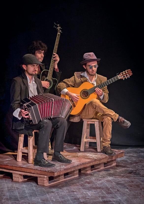 Imagen 2. Esperando a Godot, (2017). Artes Escénicas ASAB. Director: Johann Felipe Vega. Fotografía: Carlos Mario Lema.