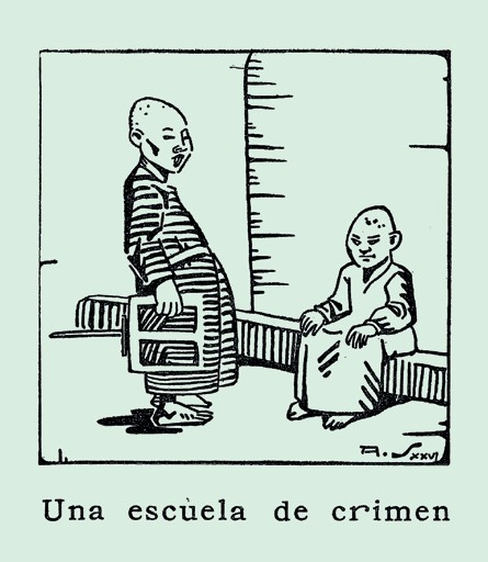 Imagen 4. Amor de caridad. Adolfo Samper (1900-1991). En el libro La cara de la miseria. José Antonio Osorio Lizarazo (1926). Bogotá: Talleres de ediciones Colombia.