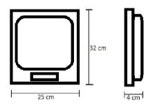 Dimensiones de la báscula.