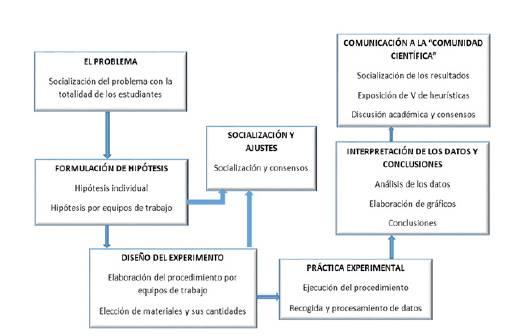 Etapas y procesos para la implementación de la estrategia basada en la indagación científica.