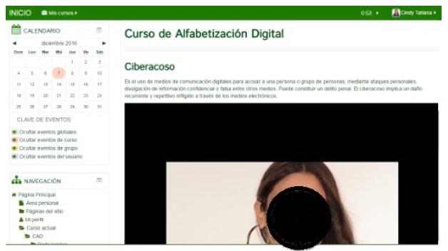Definición de ciberacoso.