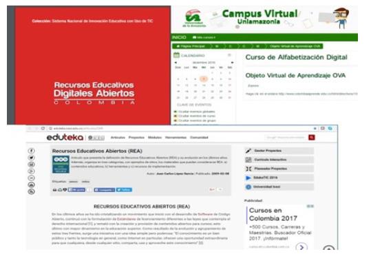 Lectura de recursos educativos digitales abiertos (Reda), objeto virtual de aprendizaje sobre REA y portal de Eduteka.