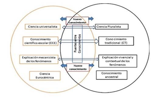 Dimensiones del CT y el CCE que conectan los puentes entre conocimientos.