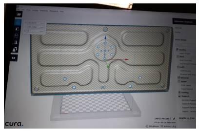 Configuración de la impresora 3D.