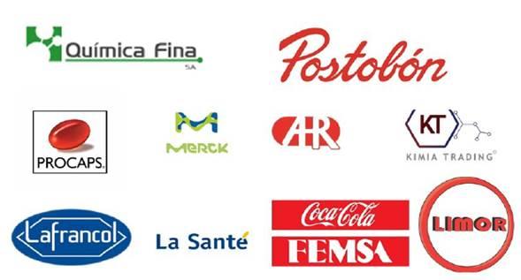 Principales importadores de saponinas en Colombia entre 2013 y 2017. Fuente: Elaboración propia con base en[43].