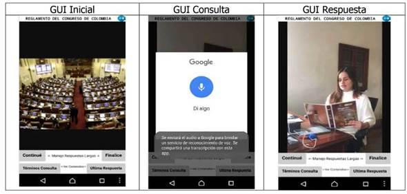 Secuencias de Interfaz Gráfica de Usuario en tiempo de ejecución