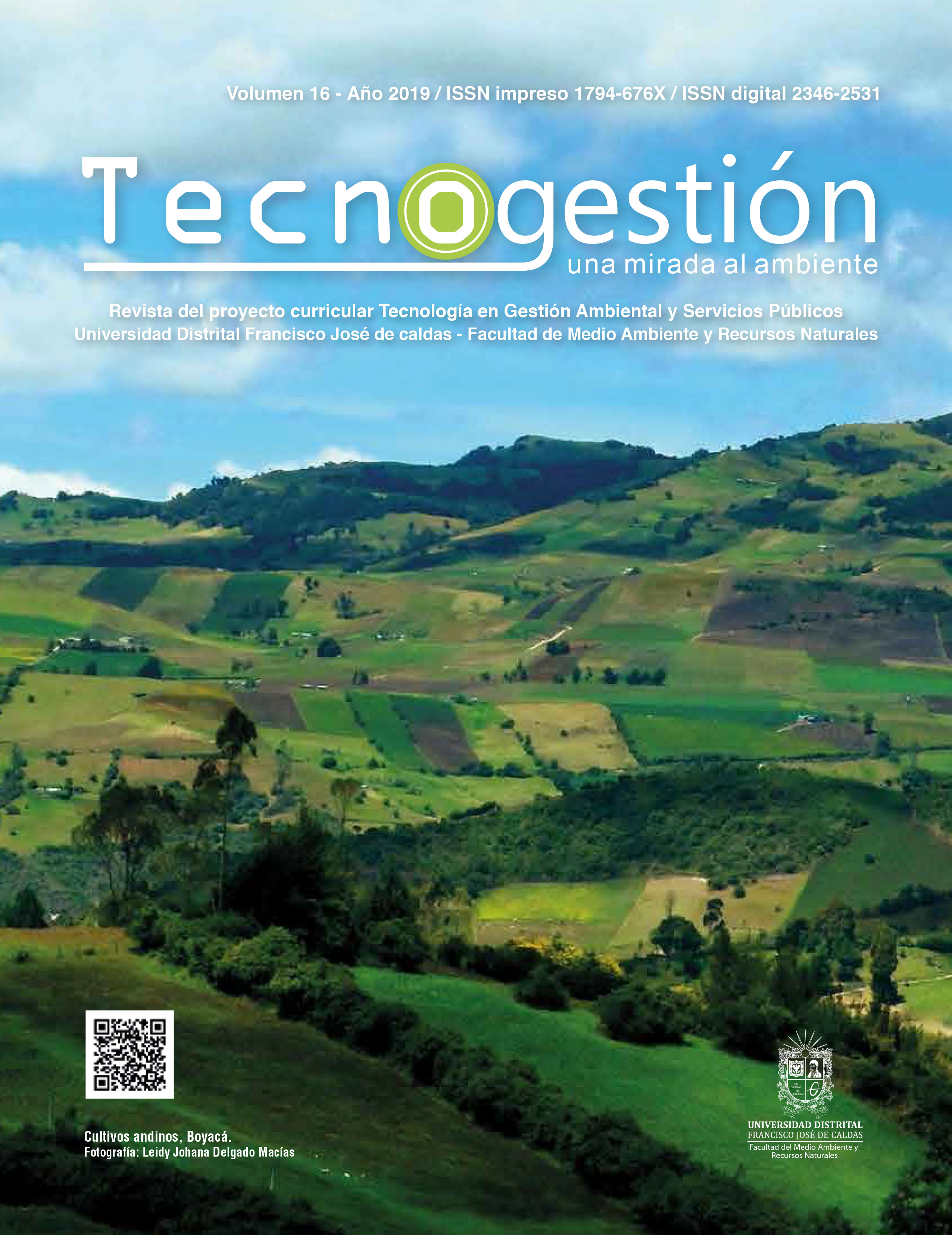 Ver Vol. 16 Núm. 1 (2019): Tecnogestión: Una mirada al ambiente