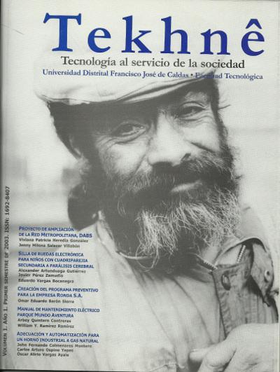 Ver Vol. 1 Núm. 1 (2003): Revista Tekhnê