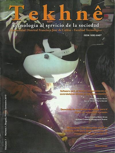 Ver Vol. 7 Núm. 1 (2010): Revista Tekhnê