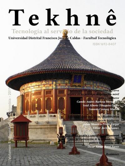 Ver Vol. 8 (2011): Revista Tekhnê
