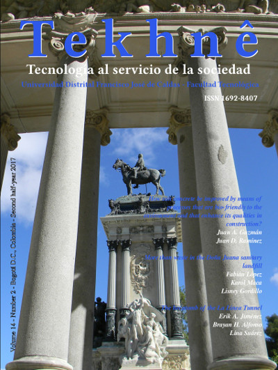 Vol. 14, Núm. 2 (2017): Revista Tekhnê