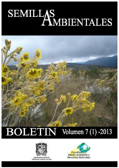 Ver Vol. 7 Núm. 1 (2013): Boletín Semillas Ambientales