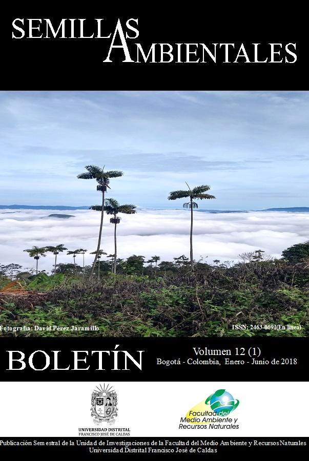 Ver Vol. 12 Núm. 1 (2018): Boletín Semillas Ambientales