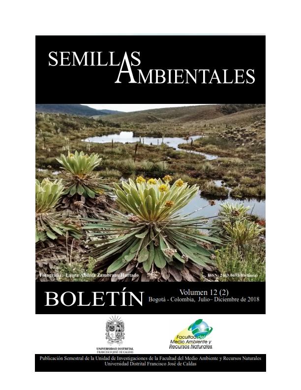 Ver Vol. 12 Núm. 2 (2018): Boletín Semillas Ambientales