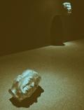 """""""El ensayo de Perseo"""", Hernando Velandia G., instalación en resina poliéster, dimensiones variables, 2011. Fotografía: Luís Hernández Mellizo"""